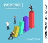 isometric businessman eliminate ... | Shutterstock .eps vector #393464869
