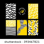abstract hand draw... | Shutterstock .eps vector #393467821