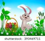 easter background  | Shutterstock .eps vector #393469711