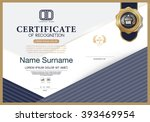certificate of recognition... | Shutterstock .eps vector #393469954