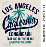 los angeles typography for t... | Shutterstock .eps vector #393476461