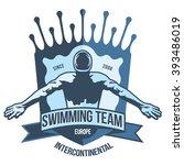 premium logo swimmer swimming... | Shutterstock .eps vector #393486019