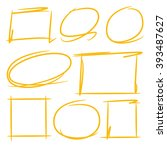 highlighter elements  circle...   Shutterstock .eps vector #393487627