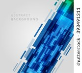 digital geometric lines... | Shutterstock .eps vector #393491311