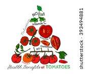 tomato vector image   Shutterstock .eps vector #393494881