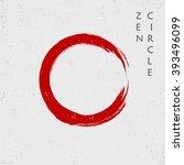 zen red circle  vector   Shutterstock .eps vector #393496099