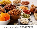 composition with dried fruits... | Shutterstock . vector #393497791