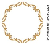 premium gold vintage baroque...   Shutterstock .eps vector #393501325
