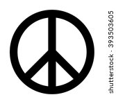 peace sign | Shutterstock .eps vector #393503605