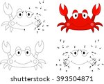 cartoon crab. coloring book and ... | Shutterstock .eps vector #393504871