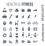 fitness gym and healthy... | Shutterstock . vector #393513475