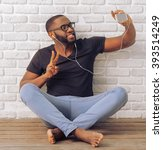 handsome afro american man in...   Shutterstock . vector #393514249