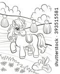 coloring pages. little cute... | Shutterstock .eps vector #393515581