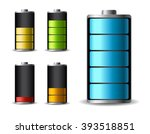 discharged and fully charged... | Shutterstock .eps vector #393518851