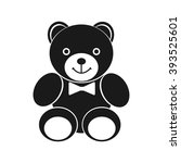 teddy bear icon. black icon on...