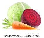 isolated fresh vegetables.... | Shutterstock . vector #393537751