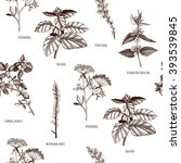 seamless vector pattern with...   Shutterstock .eps vector #393539845