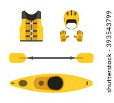 rafting and kayaking icons...   Shutterstock .eps vector #393543799
