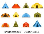 hiking and camping tent vector... | Shutterstock .eps vector #393543811