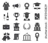 finish education or graduation... | Shutterstock .eps vector #393543829