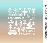 summer vacation. vector... | Shutterstock .eps vector #393544975
