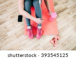flat lay sport photography.... | Shutterstock . vector #393545125