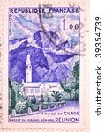 france   circa 1958  a stamp... | Shutterstock . vector #39354739