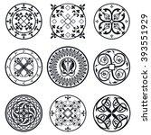 vector illustration of moroccan ... | Shutterstock .eps vector #393551929
