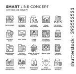 set of modern thin line icon...