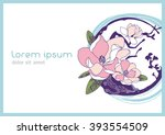 abstract floral background for... | Shutterstock .eps vector #393554509