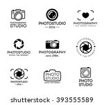 set of photography and photo... | Shutterstock .eps vector #393555589