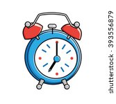 blue alarm clock. | Shutterstock .eps vector #393556879