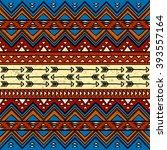 boho style seamless pattern... | Shutterstock .eps vector #393557164