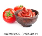 tomatoes paste with tomatoes... | Shutterstock . vector #393560644