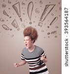 young woman with hair style and ...   Shutterstock . vector #393564187