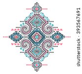 tribal vector ethnic mexican  ... | Shutterstock .eps vector #393567691