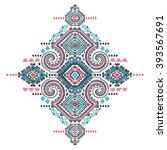 tribal vector ethnic mexican  ... | Shutterstock .eps vector #393567691