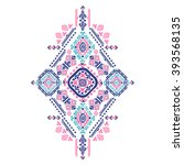 tribal vector ethnic mexican  ... | Shutterstock .eps vector #393568135