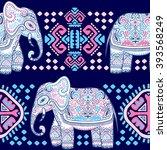 vintage graphic vector indian... | Shutterstock .eps vector #393568249