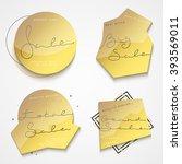 collection of golden premium... | Shutterstock .eps vector #393569011