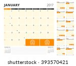 calendar planner for 2017 year. ... | Shutterstock .eps vector #393570421