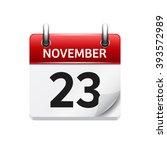 november  23. vector flat daily ...