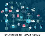 internet of things  iot  and... | Shutterstock .eps vector #393573439