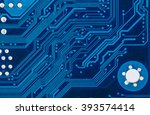 close up of electronic circuit... | Shutterstock . vector #393574414