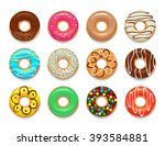 Donuts Icons Set. Donuts Icons...