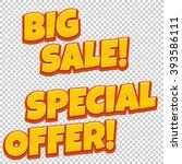 big sale special offer banner.... | Shutterstock .eps vector #393586111
