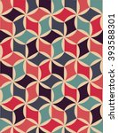 abstract geometric hipster... | Shutterstock .eps vector #393588301
