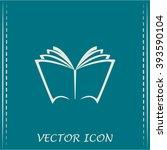 vector book icon | Shutterstock .eps vector #393590104