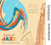 jazz music cover saxophone live ... | Shutterstock .eps vector #393592651