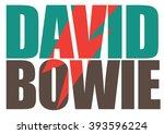 march 19  2016  david bowie pop ... | Shutterstock .eps vector #393596224